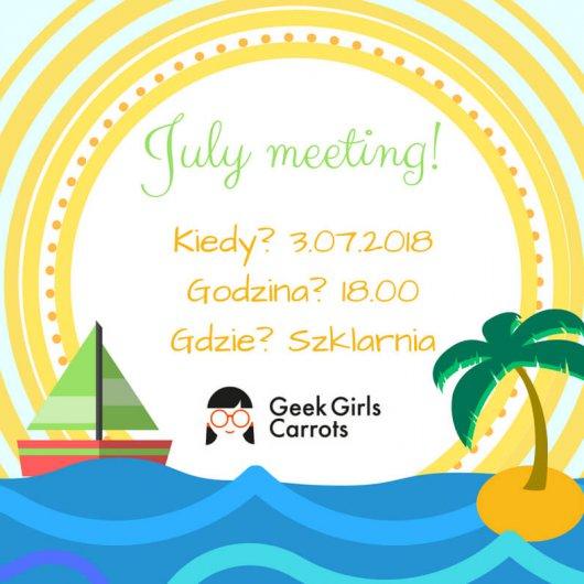 Geek Girls Carrots Meeting July Wroclove