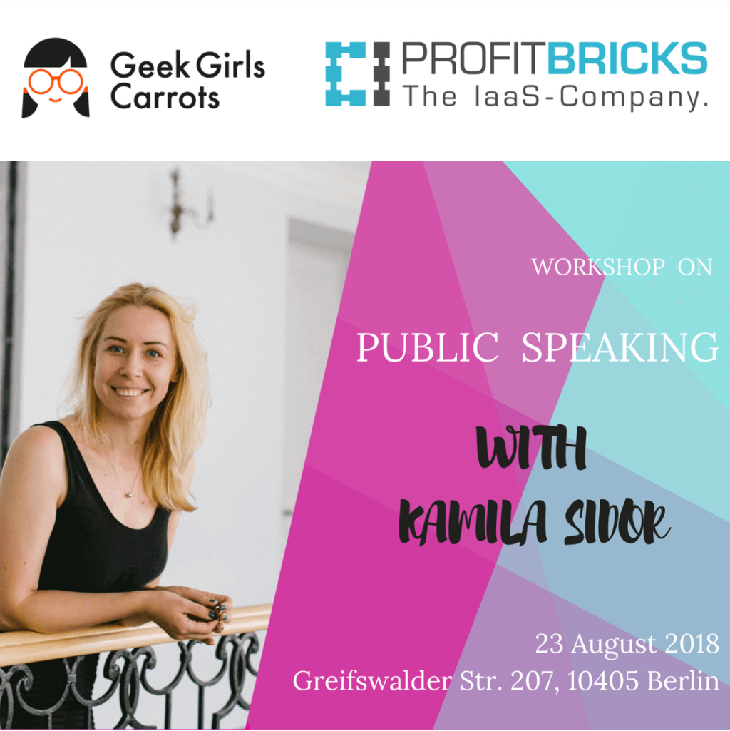 Workshop on public speaking with Kamila Sidor