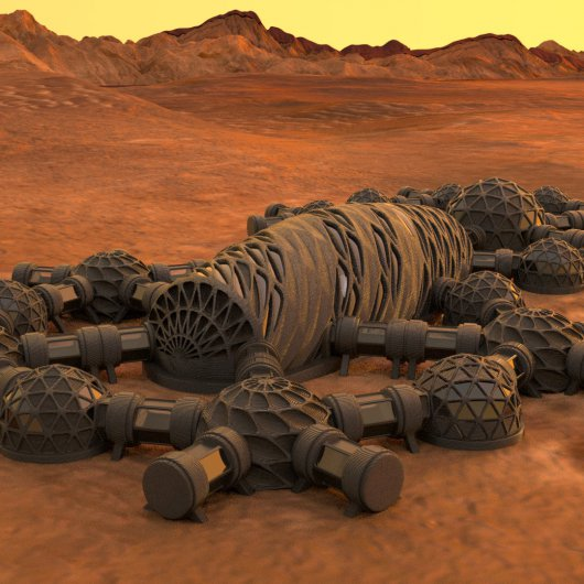 NASA and Autodesk experiment with 3D-printing robots to build human habitats on other planets